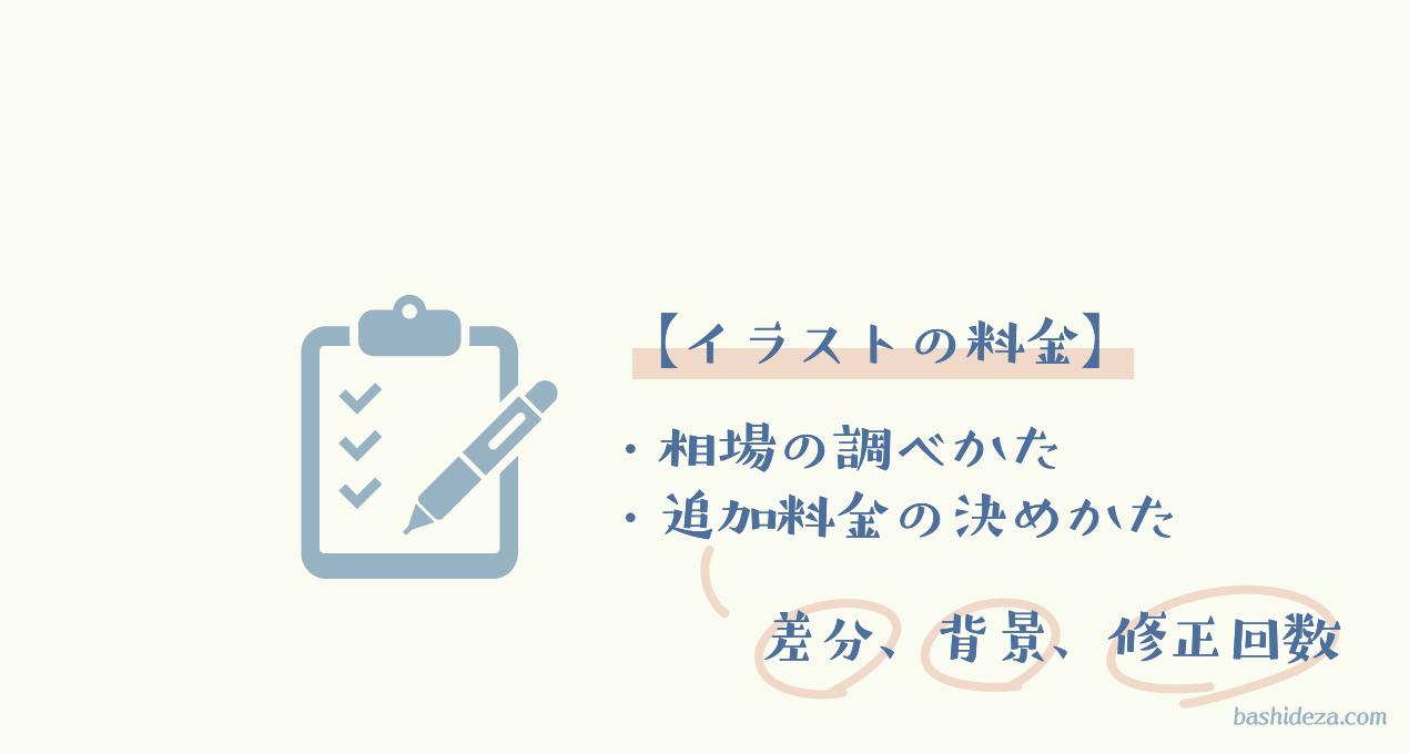 【イラストの価格設定】相場を調べる→修正・差分の追加料金を決める